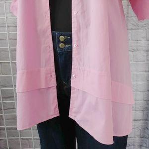 Zara Tops - Zara Trafaluc Pink Oversized Dress Top